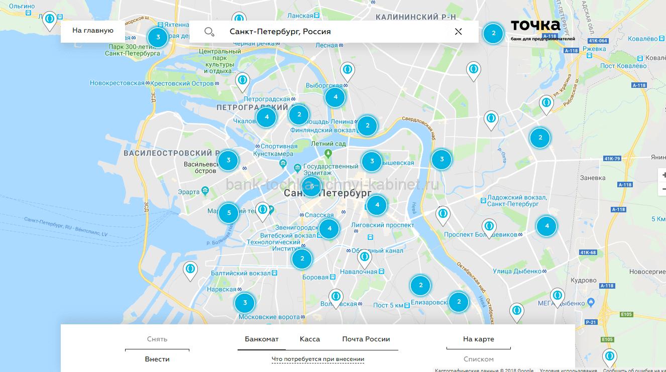 Банкоматы на карте